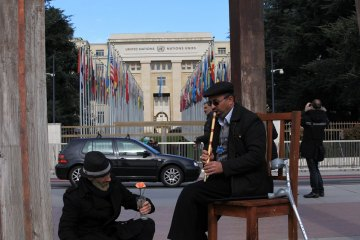 It Took Place with the Efforts of the ODVV: Iranian NGOs Art-Culture Tent Put Up in Geneva