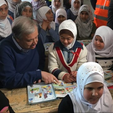 Supporting Syrian refugees not only an act 'of generosity' but also of 'enlightened self-interest' – UN chief