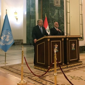 In Baghdad, UN chief Guterres pledges solidarity with Iraqi government and people