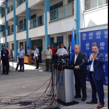 In the Gaza Strip, UN chief appeals for Palestinian unity; renews call for two-state solution