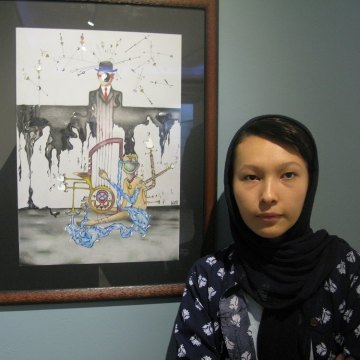 Exclusive Report from Surreal Drawings Gallery of Afghan Sisters in Tehran