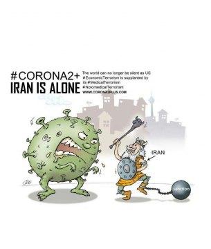 Iran struggling with sanctions & corona virus