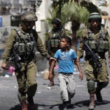 violence - 450 Palestinian children held in Israeli jails