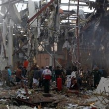 airstrikes - Saudi-Led Airstrikes Blamed for Massacre at Funeral in Yemen