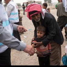 Aid - Displaced amid Mosul offensive, close to 10,000 children in urgent need of aid, says UNICEF