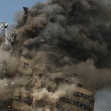 tehran - Tehran building collapse: Pray for firefighters