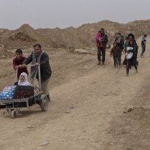 humanitarian - UN aid 'pushed to limits' as 320,000 more civilians may flee west Mosul