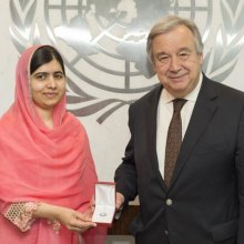 Antonio-Guterres - Malala Yousafzai designated youngest-ever UN Messenger of Peace