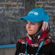 Refugees - In historic first, UNICEF appoints Syrian refugee Muzoon Almellehan as Goodwill Ambassador