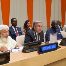 dialogue - Faith central to hope and resilience, highlights UN chief, launching initiative to combat atrocities
