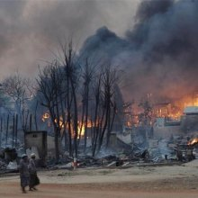 Myanmar: Video and satellite evidence shows new fires still torching Rohingya villages