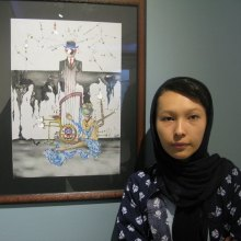 Afghan-Refugees - Exclusive Report from Surreal Drawings Gallery of Afghan Sisters in Tehran