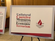 "Terrorism - ""Unilateral Coercive Measures as an Instrument of Economic Terrorism"" Exhibit Held"